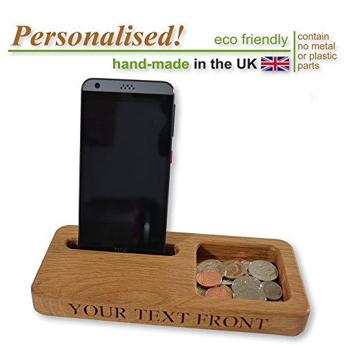 solid-oak-wooden-mobile-phone-stand-clutter-tray-gift-idea-personalised-holder