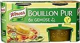 Knorr Bouillon Pur Gemüse Brühe 6 x 500 ml, 4er-Pack