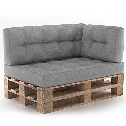 Vicco Palettenkissen Palettenmöbel Ecksofa Couch Sitzecke inkl. Europalette Palettensofa...