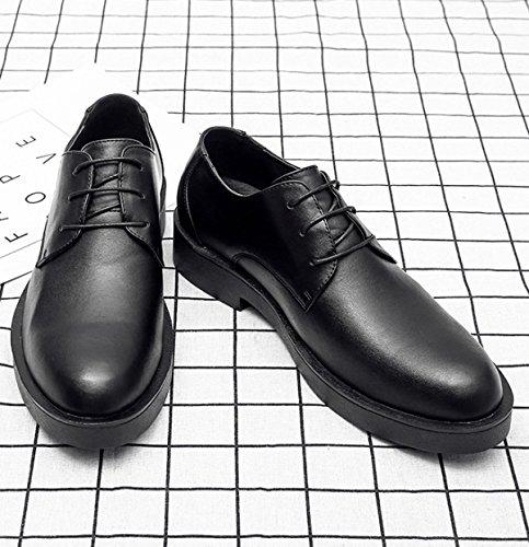 Hommes En Cuir Printemps Automne Noir Brun Mode Confortable Bas Top Casual Derby Oxford Dentelle Mocassins Chaussures brown