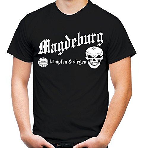 Magdeburg kämpfen & siegen Männer und Herren T-Shirt | Fussball Ultras  Geschenk | M1