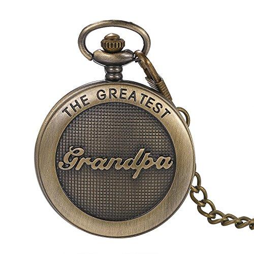 LANCARDO Taschenuhr Vintage Herren Damen Uhr Analog mit Kette Weihnachten Geschenk LCD1008975-de