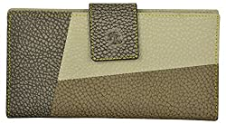 Walletsnbags Foss 100% Genuine Leather Ladies Wallet (BeigeBrown)