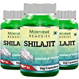 Morpheme Remedies Shilajit 500 mg Extract Supplements (60 Capsules, Pack of 3)