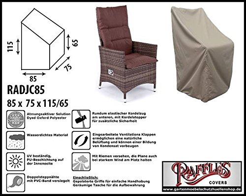 Raffles Covers RADJC85 Schutzhülle für Relaxstuhl, Hochlehner XL Schutzhülle für Stapelstühle...