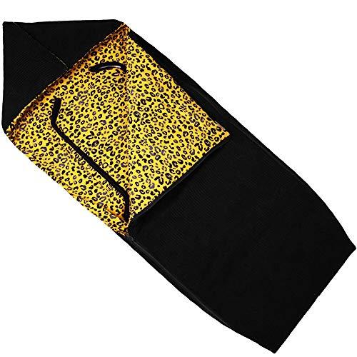 Buggy Fußsack und Kinderwagen von UKJE Schwarz Gelb Leopardenmsuter Rippstoff/Cord Universeller Verschluss für Gurte Kein Schwitzen Mehr! Weich & Sehr Warm im Winter Öko-Tex Baumwolle Recycelbar