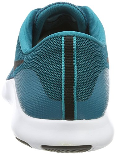 Nike Flex Contact, Chaussures de Running Compétition Homme, Gris, UK Turquoise (Blustery/black-space Blue-turbo Green-white)