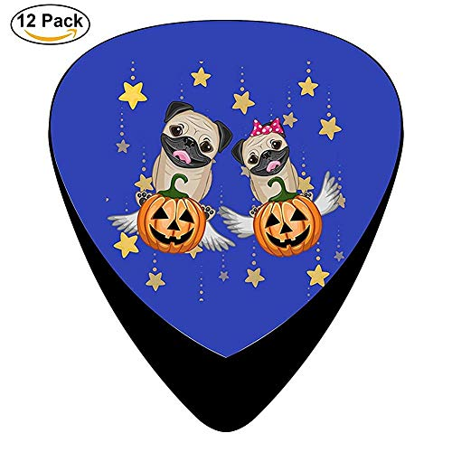 Halloween Pug Celluloid Electric Guitar Picks 12-pack
