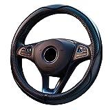 SAND-H Genuina dell'automobile volante in pelle copertura universale da 15 pollici / 38CM traspirante antiscivolo Auto Wheel manica Protector, un buon grip (Black)