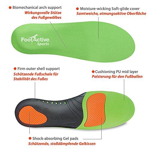 FootActive SPORT - Einlegesohlen für Sport, Freizeit und Beruf - 44 - 45 (L) - 2