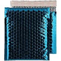 Purely Packaging - Sobre acolchado (100 unidades, tamaño CD, 165 x165 mm, cierre autoadhesivo), color azul
