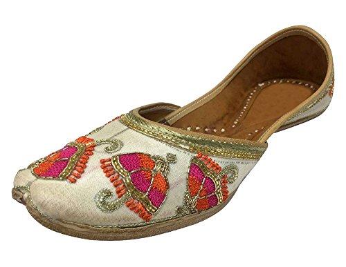 Step n Style Wedding Shoes Punjabi Jutti Ethnic Sandal Flat Ballet Kurti...