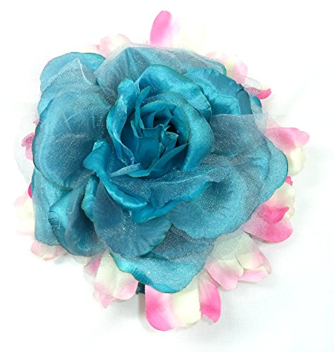 Fleur Coiffe de Tête, pour costumes de Sevillana. Plusieurs fleurs et couleurs. Taille unique. Vert