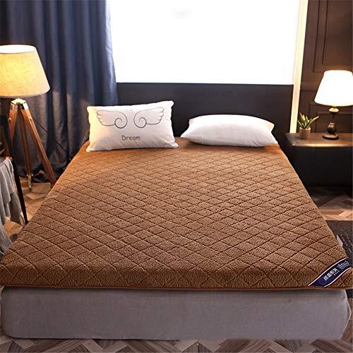 TGBY Plüsch Einfarbig Matratze Boden Verdicken rutschfest Tatami-matratze Faltbar Umkehrbar Futon Matte Camping Yoga Tragbare Schlafen Pad Vier Jahreszeiten universalC-120x200cm(47x79inch)