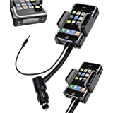 LUPO 3 in 1 Universal All Channel FM Transmitter Car Charger Hands Free Kit for iPhone 5 5S 5C 6 6S - BLACK