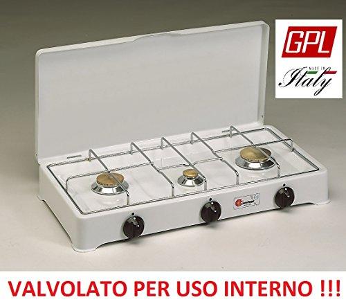 AltiGasi R/échaud valve Parker /à gaz GPL bouteilles /pour utilisation int/érieure avec 4/feux couleur blanc et noir/