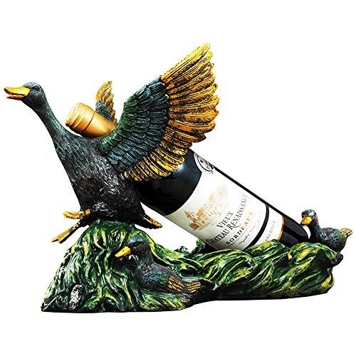 GEPFD-WINRK Weinregal Dekor, Adler Statue, Retro Weinregal Harz Handwerk, Weinregale freistehenden Boden, Mode Wohnkultur Herzstück (37 * 21,5 * 23,5cm) - Adler-raum-dekor