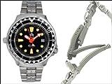 Taucher Uhr m. Automatik Werk Saphir Glas Edelstahl Band Helium Ventil T0079M - 4