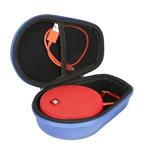 pour JBL Clip 2 3 Enceinte Etanche Ultra-Portable Bluetooth EVA Dur Cas étui de Voyage Housse by Khanka (Bleu)