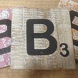Holzbuchstaben, Deko Buchstaben aus Holz, im Scrabble-Look quadratisch Größe ca. 10 cm x 10 cm, Shabby Chic, Balsa Holz, Buchstabe B