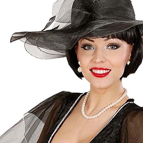 Conjunto collar y pendientes de perlas hollywood '20 '30 accesorios diva Marilyn Monroe