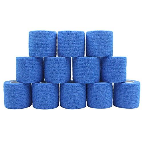 COMOmed Haftbandage Flexible selbsthaftende Bandage Haftbandage Rolle Vlies, blau, 5cm