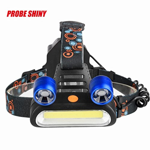 Angelof Lampe Frontale Puissante Lampe LED Headlight Jogging Lampe Frontale Ultra LéGere Camping Garage Chasse 15000 Lumens