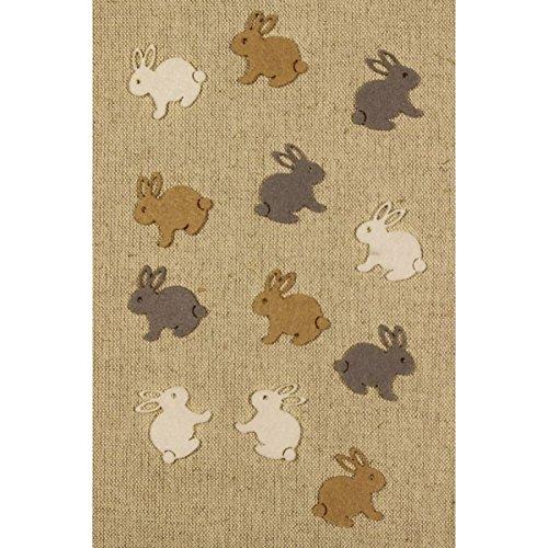 Bastelfilz Figuren Set – Mini Hase – Filz, Textilfilz, Streudeko