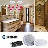 Set 2Deckenlautsprecher, wasserdicht 80W mit Bluetooth–E