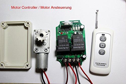 Control de motor universal Lejin, de 12V Control remoto de radio de corriente continua, alto rendimiento 30A, módulos lineales 200 m, motor lineal. Mando a distancia con control remoto BOMBEO cabrestante control de la puerta persianas cortinas y persianas