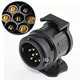 TIANOR 12V Adapter für Anhängerkupplung von 13 auf 7 polig (Adapter/Anhängerkupplung von 13-Pin Auto auf 7-Pin Anhänger)