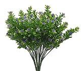 Bird Fiy Faux cespugli falso bouquet composizioni simulazione verde cespugli indoor fuori casa giardino ufficio veranda wedding Décor Purple