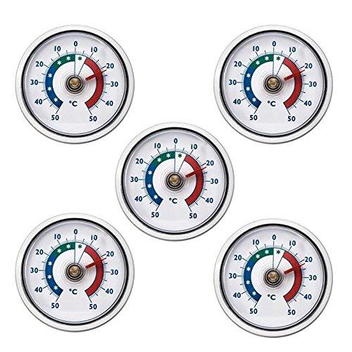 5 Stück Lantelme Kühlschrankthermometer Set silber 5450