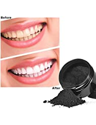 Anself Teeth Whitening Powder Oral Activated Charcoal Teeth Stain Remover Powder Toothpaste Whitener