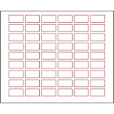VishYogi Printers White Blank Label(20mmx10mm) With Red Color Border for General Use - Labels Count - (500)