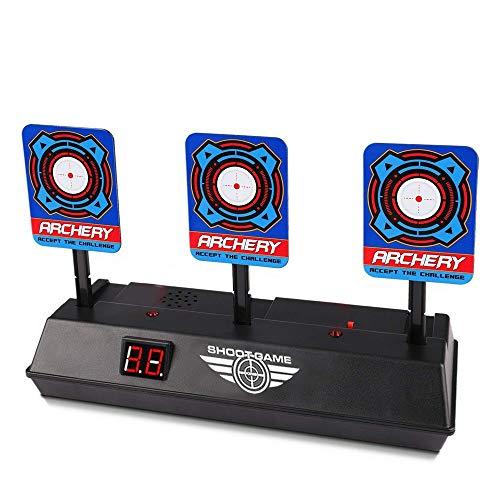 Rameng- Target pour Nerf, Électronique Réinitialisation Cible de Tir Nerf Cible Jouet Pistolet Electronique