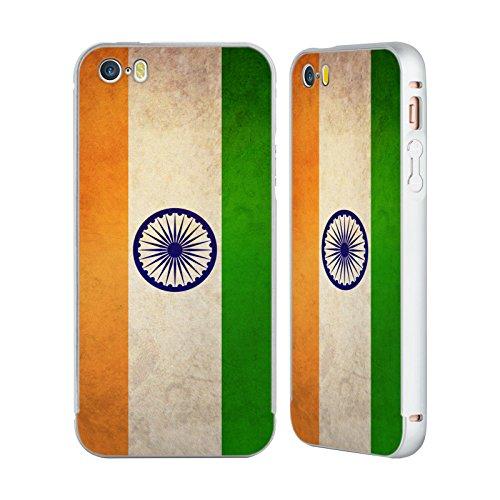 Head Case Designs Mexique Mexicain Drapeaux Vintage Argent Étui Coque Aluminium Bumper Slider pour Apple iPhone 5 / 5s / SE Inde Indien