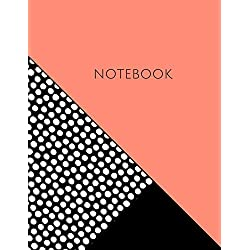 """Notebook: Coral and Dots 8.5 x 11"""" College Ruled"""