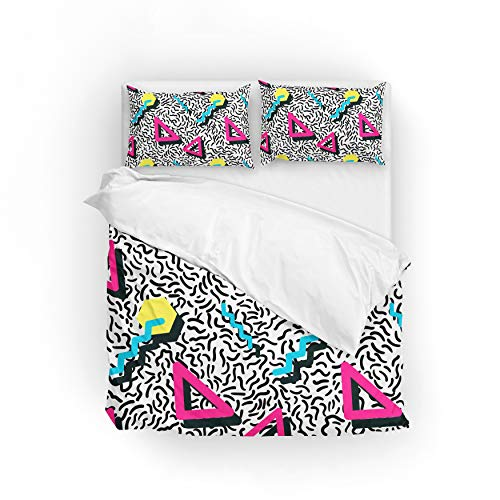 Retro Geometric 80S Duvet Cover Set - King, Queen or Twin