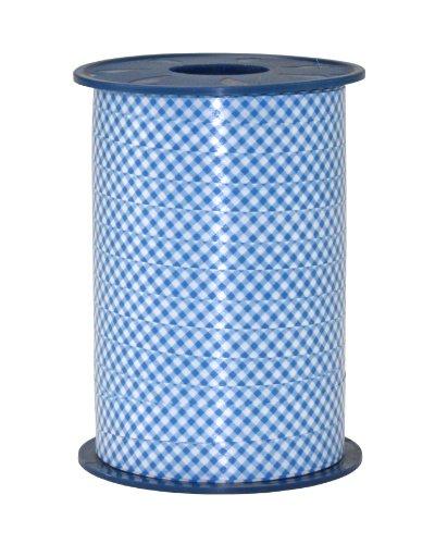 Pattberg Präsent 10 mm 200 m POLYKARO - Kariertes Ringelband, blau (Blau-karo-band)