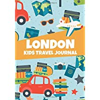 London: Kids Travel Journal, United Kingdom Memory Keepsake Diary for Children, Lined Pages To Write In with Prompts