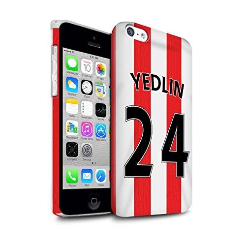 Offiziell Sunderland AFC Hülle / Glanz Snap-On Case für Apple iPhone 5C / Pack 24pcs Muster / SAFC Trikot Home 15/16 Kollektion Yedlin