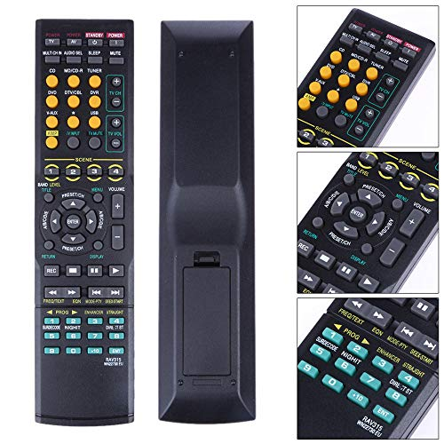 YA-Uzeun Fernbedienung RAV315 für Yamaha Home Audio RAV311 WK22730 WK22730EU HTR-6050 (Home Gym-organisation)