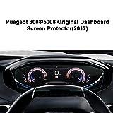 LFOTPP Navigation Protection Pour Tableau de bord Peugeot 3008/5008 2017 (8 pouces) Système de Navigation Film Protection en Verre Trempé - 9H Anti-rayures