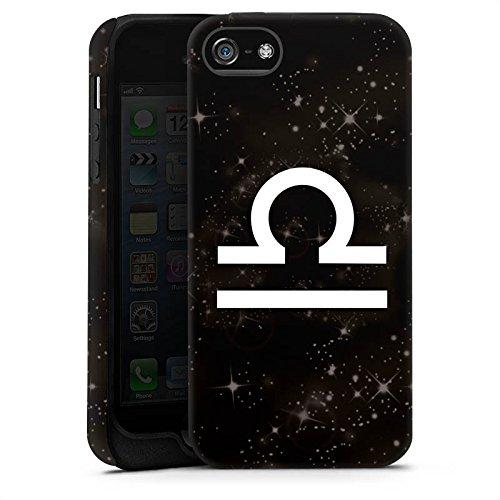 Apple iPhone 4 Housse Étui Silicone Coque Protection Signes du zodiaque Étoiles Balance Cas Tough terne