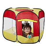 Izzy Kinderspielzelt Bällebad Pop Up Spielzelt + 100 Bälle + Tasche für drinnen und draußen