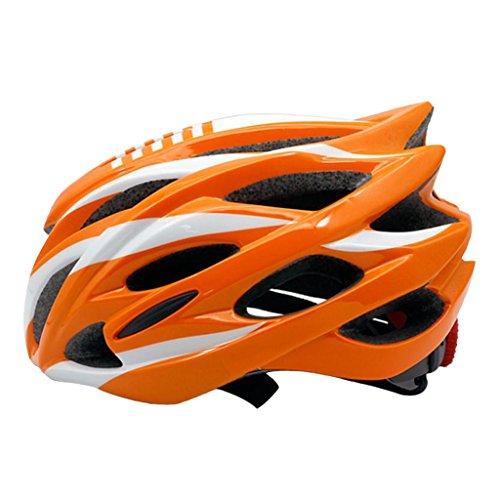 Sharplace Damen Herren Fahrradhelm Rennradhelm mit Insektenschutz, MTB fahrrad helm integral mit 23 Belüftungskanäle - Orange