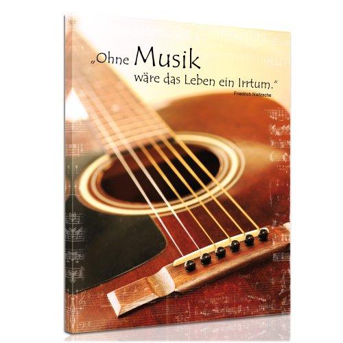 Bilderdepot24-Bild-auf-Leinwand-Ohne-Musik-wre-das-Leben-ein-Irrtum-Friedrich-Nietzsche-60x80cm-fertig-gerahmt-direkt-vom-Hersteller