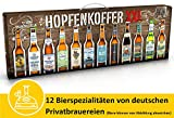 Kalea Hopfenkoffer XXL | 12 deutsche Bier-Spezialitäten | Geschenk-Karton mit Henkel | Geschenkidee für Männer und alle Biergenießer