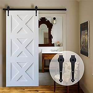 ccjh 6ft 183cm quincaillerie kit de rail roulettes pour. Black Bedroom Furniture Sets. Home Design Ideas